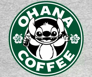 coffee, stitch, and ohana image