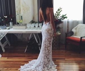 brunette, weddingday, and dress image