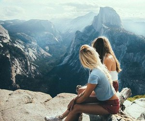 girl, friends, and travel image