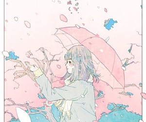 art, anime, and pink image