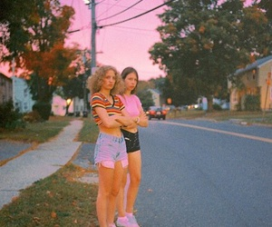 pink, girls, and grunge image
