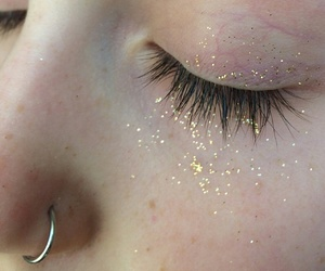 eyes, piercing, and glitter image