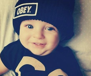 baby, cute, and obey image
