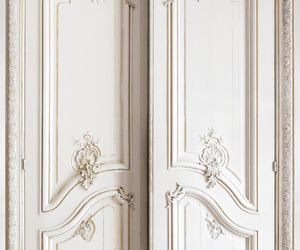 door, white, and gold image