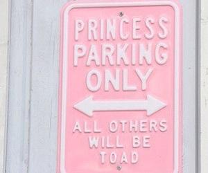 pink, princess, and parking image