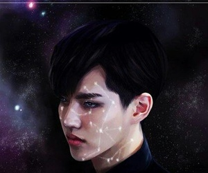 kris, exo, and galaxy image