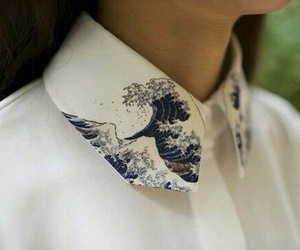 fashion, collar, and waves image