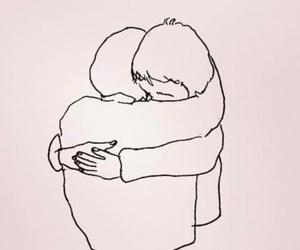 quotes, hug, and sad image