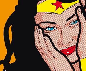 pop art and wonder woman image