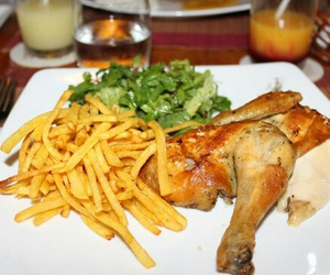 Chicken, delicious, and salade image