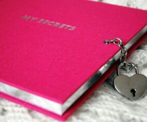 pink, diary, and secret image