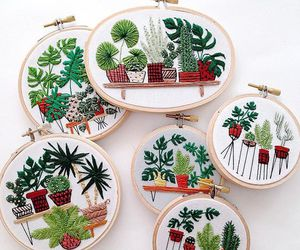 embroidery and plants image