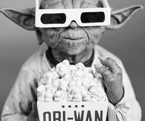 black and white, star wars, and yoda image