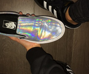 adidas, gold, and hologram image