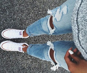converse, jeans, and style image