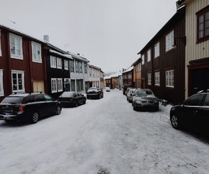 colors, norway, and snow image