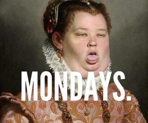 monday, funny, and school image