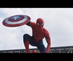 captain america, civil war, and spiderman image