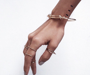 accessories, hand, and ring image