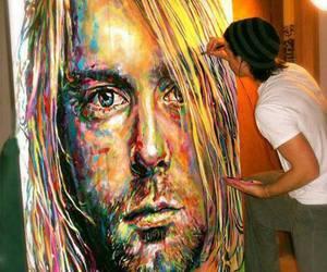 kurt cobain, art, and nirvana image