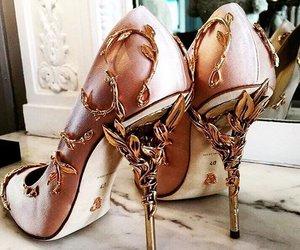 heels, high heels, and shoe image
