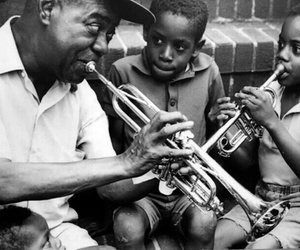 music, black and white, and kids image