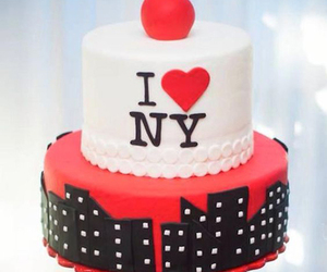 black, cake, and ny image