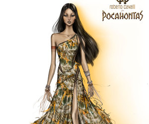 pocahontas, princess, and Roberto Cavalli image