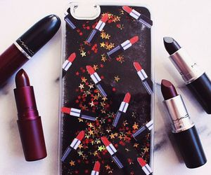 lipstick, iphone, and mac image