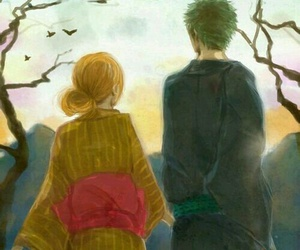 anime, couple, and zoro image