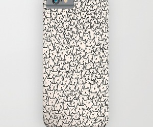 black and white, case, and cat image