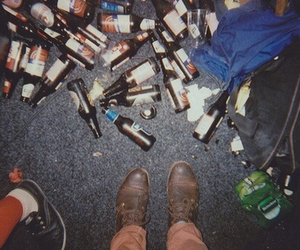 party, beer, and grunge image