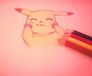 doodle, pikachu, and pokemon image