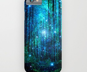blue, stars, and trees image