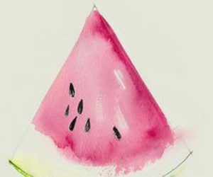 watermelon, art, and drawing image