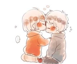 love, couple, and kawaii image