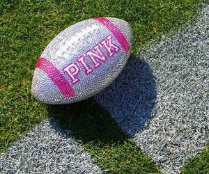 pink and football image
