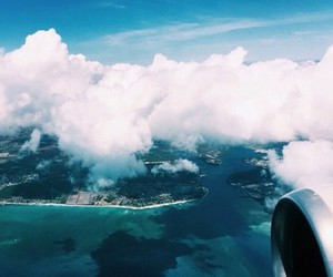 travel, beautiful, and clouds image