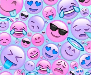 emojis, pink, and background image