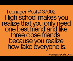 high school, friends, and fake image