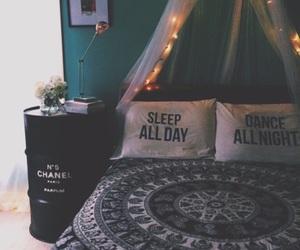 room, bedroom, and sleep image