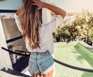 summer, hair, and style image