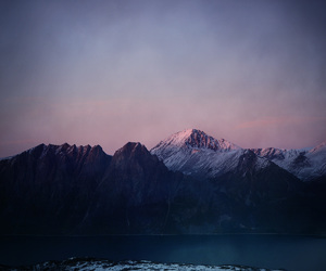 mountains, grunge, and sky image
