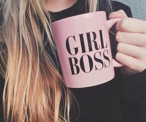 girl, pink, and boss image