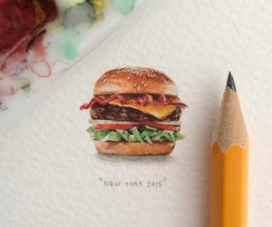 art, drawing, and food image