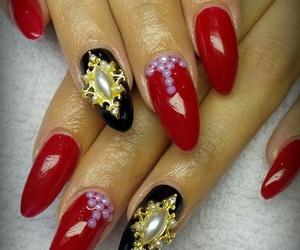 black, luxury, and nails image