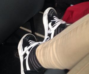 black, vans, and khakis image