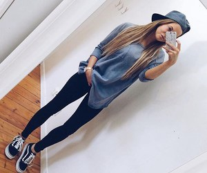 girl, outfit, and vans image