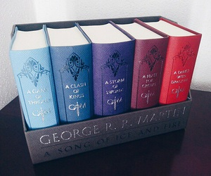 books, game of thrones, and george r. r. martin image