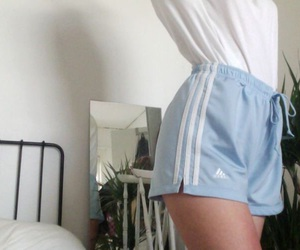 adidas, outfit, and Bleu image